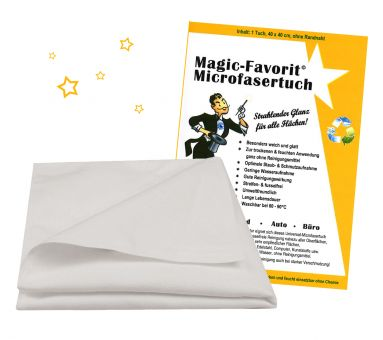 Microfaser-Reinigungstuch MAGIC-FAVORIT©, 40x40 cm