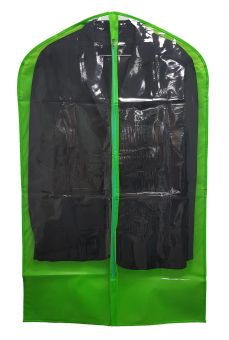 Kleiderschutzhülle 60 x 100 cm, grün / transparent