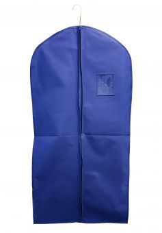Kleiderschutzhülle 60 x 120 cm, blau, mittiger