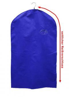 Kleiderschutzhülle, 60 x 110 cm, blau, mit seit-