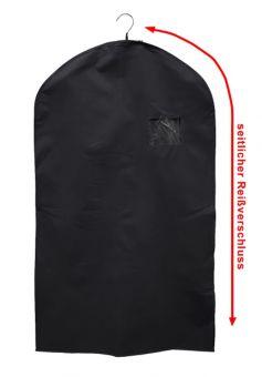 Kleiderschutzhülle, 60 x 110 cm, schwarz, m. seit-