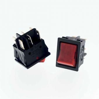 Schalter 3-polig, rot, für Tische + Kessel