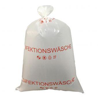 """Wäschesack mit Aufdruck """"Infektionswäsche"""",milchig"""