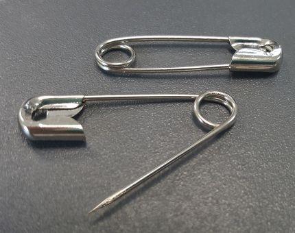 Sicherheitsnadeln 38 mm, Nr. 2, Stahl vernickelt
